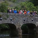 Walkers gathered at the Toll Bridge at Lord Brandon's Cottage. Photo by Valerie O'Sullivan
