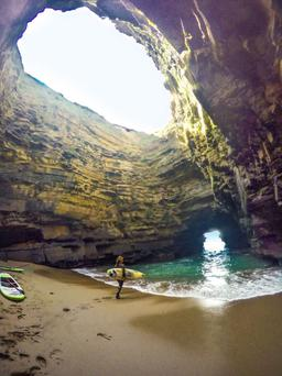 Paul Deering and his friends stumbled across this beautiful cave near Ballybunion while surfing. Photo by Paul Deering