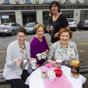 The team behind the successful Kerry Hospice Foundation Coffee Morning at The Market House in Castleisland on Thursday. Included are: Eileen McCarthy, Noreen O'Callaghan, Liz Galwey and Tess Fitzgerald. Photo by John Reidy