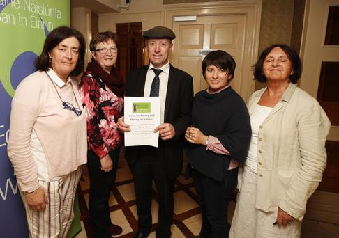 Deputy Michael Healy Rae with Kerry delegates at the National Women's Council of Ireland's pre-budget event in Dublin.