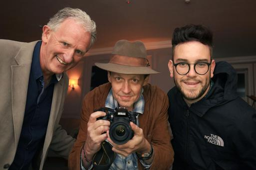 Mike Buckley, Killarney Chamber of Tourism and Commerce; Shane Dallas, Conference Director for TBEX Europe and Lloyd Grffiths get snapping as the TBEX Europe travel conference comes to Kerry.