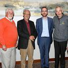 At last Mondays Kerry CCÉ county board meeting held in the Rose Hotel where Milltown proved successful in its bid to host Fleadh Cheoil Chiarraí 2018. From left: John Cant,y Chairman Kerry County Board, Eoin Ó Carra Kerry CCÉ, Owen O'Shea Treasurer Milltown CCÉ, Denis Courtney Chairman Milltown CCÉ, Tony O'Connor Kerry CCÉ. Photo by John Stack Kerry CCÉ