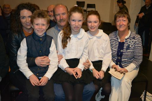 The Tarrant family: Amanda, Jamie, James, Emma, Ali and Markie Tarrant pictured at the Liam Tarrant Memorial Night in Teach Siamsa in Finuge on Friday night.