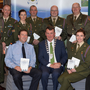 Members of the Defence Forces with Inspector Donal Ashe, Tom Brosnan Civil Defence Officer and Mayor of Kerry John Sheahan at the launch of the new book and DVD on Kerry's 1916 commemorations