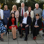 Professor Emeritus of Education at Maynooth John Coolahan (front, centre) at the launch of his latest history on the Irish educational system at the Education Centre in Tralee on Thursday with, back from left, Margaret McCormack, Emer Nelligan, Betty Stack, John O'Regan, Kay McCarthy, Noel Keenan, Máire Bn. Nic Shuibhne. Front, from left: Breda Lyons, Centre director Caitríona Ní Chullota, Prof Coolahan and Kathleen Browne. Photo by Domnick Walsh