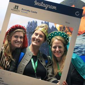 Travel bloggers Veronica Ondrejech, Mags Nixon and Pam Roberts at the TBEX conference