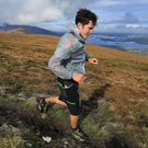 Down all the way…Jack Murphy, on Mangerton Mountain, competing in Quest Killarney
