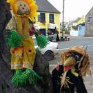 Just two of the impressive examples of scarecrows that were on display in Sneem last year during the town's unique 'Scarecrows on the Green' event