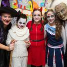 Showing off their Halloween Costumes on Friday at Scoil Eoin,Balloonagh, on Friday (from left) Kayrena Bolger, Ryne Ybanez, Aoife Hassett, Ava Duggan and Joe McMahon