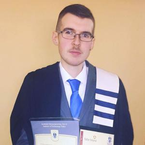 Shaun O'Connor of Chapeltown, Valentia Island,who recently graduated with a Culinary Arts two year Higher Certificate at the Tralee Institute of Technology