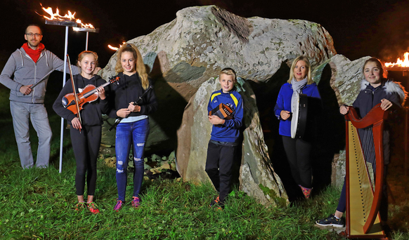Fleadh Cheoil Chiarraí is set to return to Milltown after a 10-year absence and the town is already ablaze with preparations for the popular traditional music festival in June 2018. The local branch of Comhaltas Ceoltóirí Éireann and committee members returned to their roots for the launch of the event at the weekend, drawing inspiration from the ancient portal tomb at nearby Killacloghane. Fundraising is underway and a fun table quiz will take place in Larkin's Bar on December 1 at 8pm - table of four €40. From left: Owen O'Shea, Chairman; Sadhbh, Caoimhe and Cian O'Brien, Celia O'Shea and Ailbhe Horan