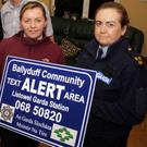 Pictured at the recent launch of the Ballyduff Community 'Text Alert' system were Tom Lawlor, Liam Houlihan, Teddy O'Sullivan, Mike Dowling, Elaine Fremantle and Sgt Paula Kelliher.