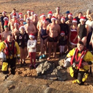 Members of the Tralee Bay Swimming Club pictured earlier this month promoting their annual Christmas Day swim on Fenit beach