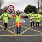 Lollipop Lady Catherine Dolan was honoured by staff and pupils in a school-wide ceremony after she announced her retirement after 14years in the role