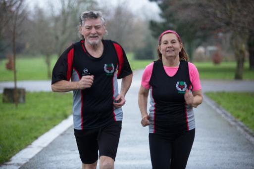 Running couple, Brian and Julie Byrne, who between the two of them have run 211 marathons; the pair say that runners should never worry about time and should just enjoy the experience
