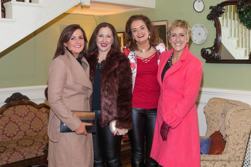 Celebrating Women's Christmas at the Listowel Arms Hotel on Saturday were, from left: Claire Fennell, Angela Dalton, Martina O'Neill and June Whelan. Photo by John Kelliher