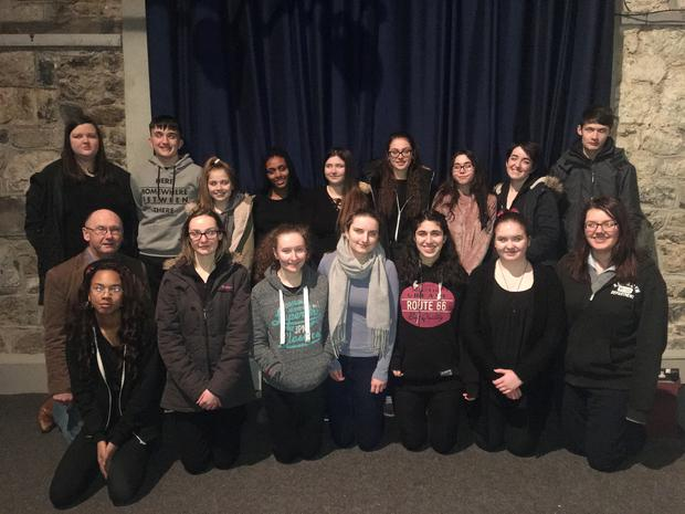 The St John's Young Theatre Group during rehearsals for Scars with Stories - written by the group's Italian-native member Chiara Quarta in a hard-hitting piece about the mafia on Monday next, January 15