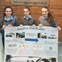 Displaying details of their 'Rewire the rules' project are (from left) Clara Hanrahan, Kayla Hannon and Niamh O'Carroll from Tarbert Comprehensive