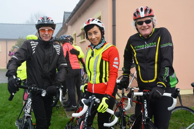 Cyclists pictured before the start of last year's Jimmy Duffy memorial cycle in Blennerville
