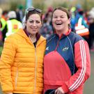 Maria Brown and Denise Lynch from Fenit at the 6km walk in Tralee on Saturday morning.