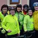 Happy cyclists pictured at the start line of the annual Jimmy Duffy Memorial Cycle in Blennerville on Saturday morning.