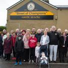 A great turnout for the unveiling of the 'Street of Champions' mural at Urban Terrace,Top of the Rock, Tralee on Saturday