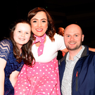 Contestant Finnola Halpin with Ella Kate and Richard Halpin at the Strictly Come Dancing event in aid of Irish Cancer Society at the INEC on Friday