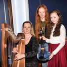 Sarah, Sophia and Claudia Burke Beaufort who participated in the Annual Killarney School of Music Concert in the INEC, Killarney on Sunday. Photo by Michelle Cooper Galvin