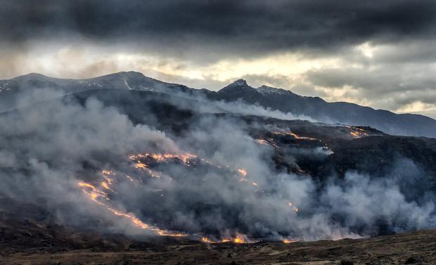 Gorse fire on Carrauntooil