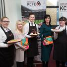 Students of the Kerry College of Further Education (KCFE) who helped launch the prospectus on Tuesday afternoon were Jenny Watton (KCFE), Fiona Stack (Manager of Radio Kerry), Denis Cronin (KCFE), Mary Lucey (Principal KCFE), Shannon Kennedy (KCFE) and Colm McEvoy (CEO of Kerry ETB)