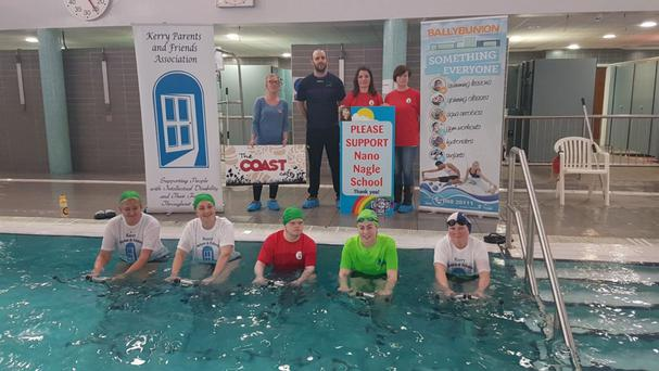 Launching the hydrobike marathon in the Ballybunion Leisure Centre last week.