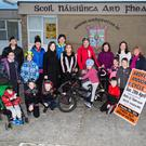 Pupils, teachers and parents at Ardfert National School launching the 2018 Ardfert Annual Cycle - taking place this year on Sunday, April 29.