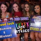 Aoife Colman, Andrea Stack, Erica Diggins and Aine Moriarty showing their support for the dancers at the Causeway GAA Strictly Come Dancing event in The Ballyroe Heights Hotel on Friday night