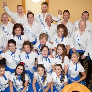 The dancers psyched up and ready for the floor ahead of the huge Strand Road fund-raiser in the Brandon Hotel on Friday