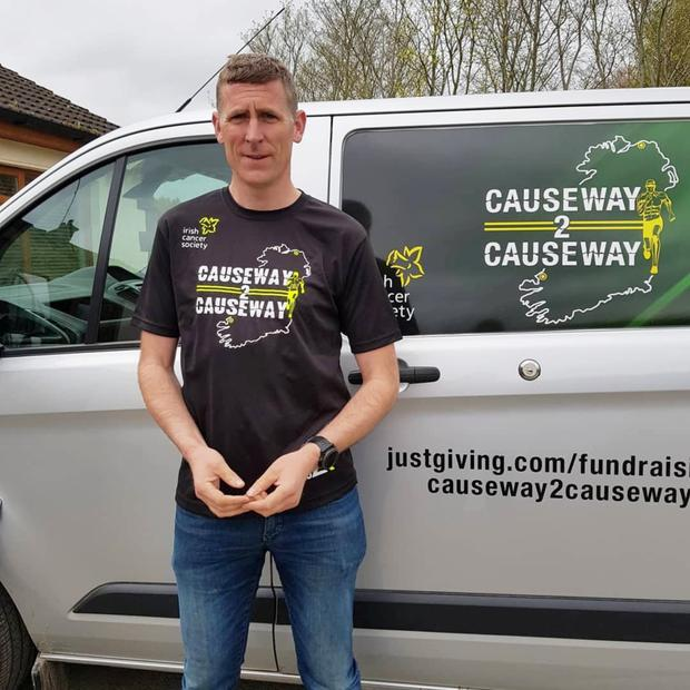 Causeway native Michael McEnery, who has previously run 200 miles from Dublin to Kerry over three days, will now undertake an epic 1200km run from the Giants Causeway in Antrim all the way down to his home village of Causeway in Kerry - all in the space of 14 days