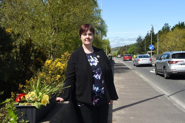 Suzanne Dennehy on the Lewis Road Bypass junction. Photos by Michelle Cooper Galvin