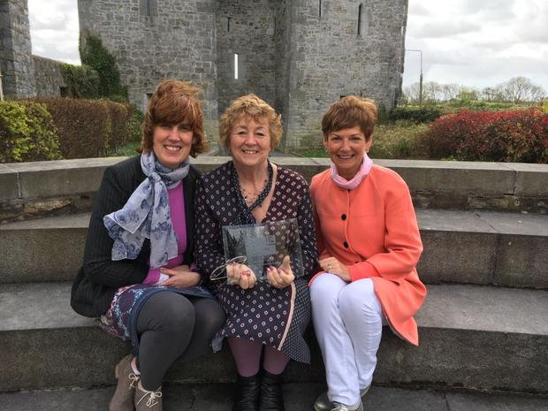 Máire Logue, Liz Dunn and Eilísh Wren back at base with the fantastic gong for the nation's best festival from the Irish Hospitality Awards