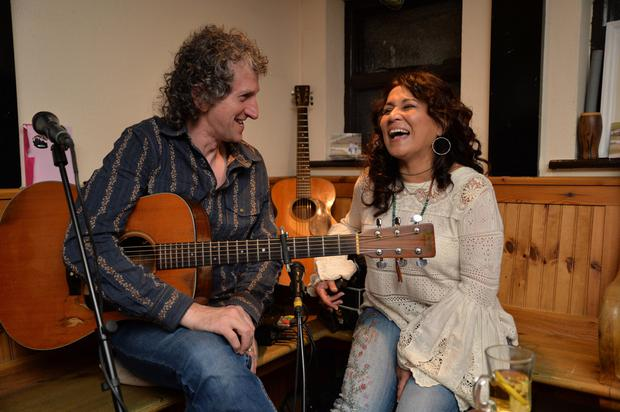 Tommy and Saundra O'Sullivan in their Courthouse bar in Dingle where they launched their CD 'Safe Home' on Sunday
