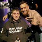'A dream come true' as Ian meets his hero, Conor McGregor