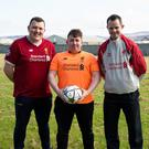 Ivan Hurley, Sean McCarthy and Kevin Moynihan, all from Killarney, who are flying out to Kiev next week ahead of the Champions League Final clash between Liverpool and Real Madrid
