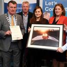 A winner in the Junior Section of the Go Kerry 'Picture Perfect' photo competition was Ellen Kennedy (not in picture) from St Bridgets Secondary School in Killarney. Also pictured here are Siobhan Murphy (The Kerryman) John Sheahan (Mayor of Kerry), Kieran Ruthlege (Go Kerry) Alice, a teacher from St Brigid's Secondary School, Grace O'Donnell (Go Kerry) and Jerry Enright (Bank of Ireland)
