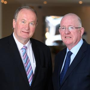 Minister Flanagan with Cllr Jim Finucane.