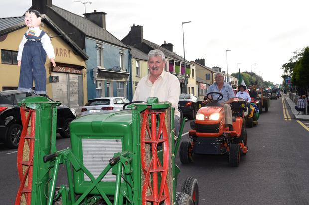 Brendan Ferris in his tractor mower participating in the Lawnmower Race in aid of Recovery Haven