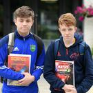 Liam Roos and Niall Lynch following Junior Cert Maths at St Michael's College, Listowel