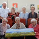 Back: Paddy Garvey, Mary Dowling, Mary Thornton, Mary Cotter and Mary O'Dowd. Front: Emily McGillycuddy, Eileen McCarthy and Peggy Betts at the Baile Mhuire Art Exhibition on Thursday