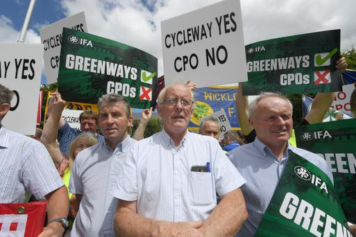 John O'Sullivan from Barrow, Tralee at Tuesday's protest