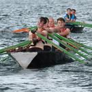 The Dingle/Maharees crew of Davin Ó Loingsigh, William Goodwin, Jackie Goodwin and Niall Flannery put their backs into the effort, but they couldn't catch the Maharees crew of Alan O'Leary, Colm O'Connor, John Joe Hussey and Vincent Hussey, who went on to win the senior men's race.