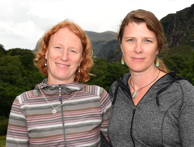 Jennifer Lee Price and Erika Price pictured near Kate Kearney's Cottage and close to where they hope to install a fitting memorial bench for their mother who died following a cycling accident at the Gap of Dunloe last year