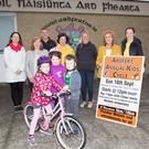 The relaunch of the Ardfert Kids Cycle which is taking place this weekend on Sunday September 16. Front: Muireann Wiseman, Olivia and Luke Dillon. Back: Fidelma Dillon, Cecila O'Callaghan, Kevin Wiseman, Mary O'Connor, Antoinette Wiseman, Betty Stack and Marie O'Connell