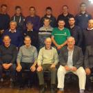 Officers and members of the Kerry Ploughing Association (KPA) pictured in McElligots Bar in Abbeydorney last week as they prepare to compete in the National Ploughing Championships in Tullamore in Offaly. (Front from left) Michael McCarthy (Treasurer of KPA), Brendan Blackwell (Secretary of KPA), Michael O'Halloran (Vice Chairman of KPA), Thomas Healy (President of KPA), Tom O'Mahony (PRO) and MIchael Fitzmaurice (Safety Officer of KPA). (Middle from left) Michael P Donegan, Michael Brosnan, Aeneas Horan, Kevin Keane, Derek O'Driscoll, Colm Dineen, Philip Healy and Tommy McCarthy. (Back from left) Patrick Boyle, Shane Godley, Dónal Tydings, Michael J Donegan, Pa Lucid and Thomas O'Carroll